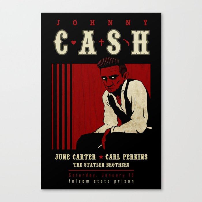 Cash Live at Folsom Prison Canvas Print