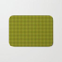 Mini Black and Bright Yellow Cowboy Buffalo Check Bath Mat