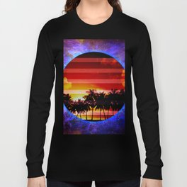 Synthwave Poster v.1 Long Sleeve T-shirt