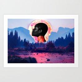 Mother nature devastation Art Print