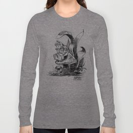Pouty Alice  - Ink Sketch Long Sleeve T-shirt