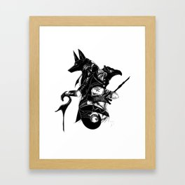 Anubis & Horus Framed Art Print