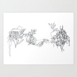 Bovey Contour Art Print