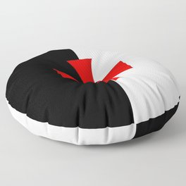 Dual color knights templar red cross Floor Pillow