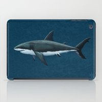 biology iPad Cases featuring Carcharodon carcharias  ~ Great White Shark by Amber Marine