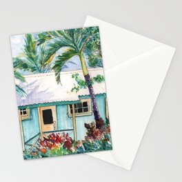 Tropical Vacation Cottage Stationery Cards