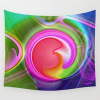 "agate Wall Tapestries featuring "" Agate ""  by shiva camille"