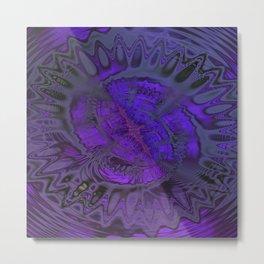 Passionate Purple Sanctuary by Dee Flouton Metal Print