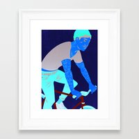 tattoos Framed Art Prints featuring Bicycles & Tattoos by Matt Taylor