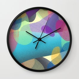 Abstract Colorful Textures Shapes #4 Wall Clock