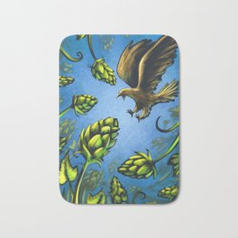 Screaming Eagle and Raging Hops (Cool) Bath Mat