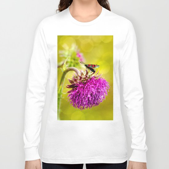 Butterfly and а thistle Long Sleeve T-shirt