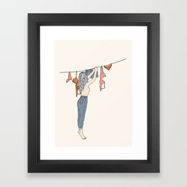 Girl Next Door Framed Art Print