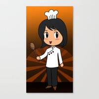 chef Canvas Prints featuring Chef by Flying Cat Artwork