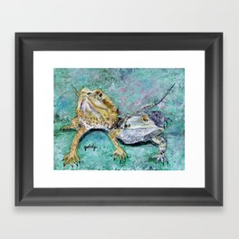 Bearded Dragons Framed Art Print