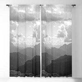 Mountain Ridges and Clouds Alps Alpine Landscape Blackout Curtain