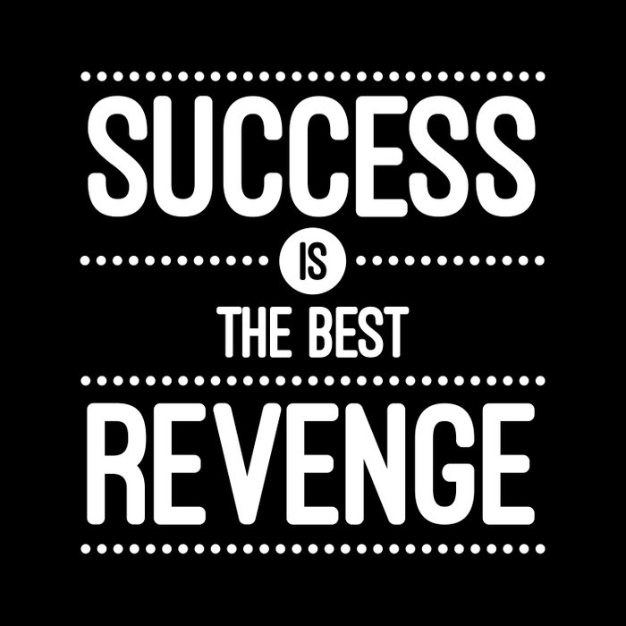 Success Is The Best Revenge Quote Comforters By Thedailyquotes