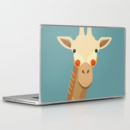 Giraffe, Animal Portrait Laptop & iPad Skin