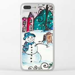 Holly Sled Clear iPhone Case