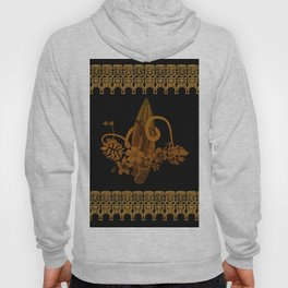 Surfboard with tropical flowers Hoody