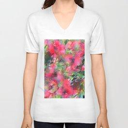 Windsor Red Rose Garden Unisex V-Neck
