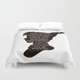 Peter Pan Quote - That Place Duvet Cover