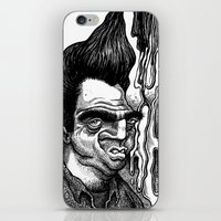 grease iPhone & iPod Skins featuring Dave's Grease Ghost by PRESTOONS / Art by Dennis Preston