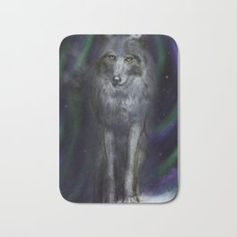 Canis Lupus The Grey Wolf Bath Mat