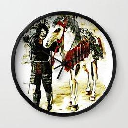 Thousand Mile Journey (Samurai Warrior and Horse) Wall Clock