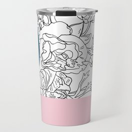 VESSEL - Floral Ink in Peacock & Pink - Cooper and Colleen Travel Mug