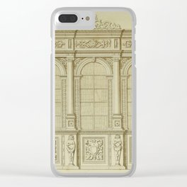 Classical Library Architecture Clear iPhone Case