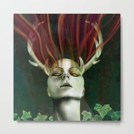 Silence Demon Metal Print
