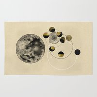 kubrick Area & Throw Rugs featuring Moon by J Arell