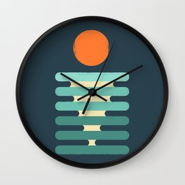 Minimalist ocean Wall Clock