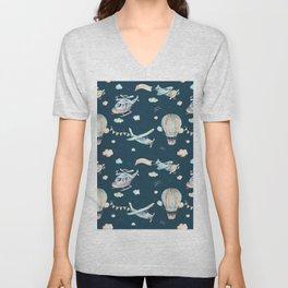 Boy pattern Unisex V-Neck