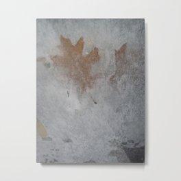 Frozen Autumn Metal Print