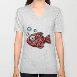 Red Fish Unisex V-Neck