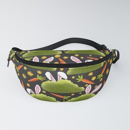 Rabbits and Carrots Pattern | Illustration Fanny Pack