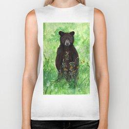 Cinnamon Black Bear Cub Biker Tank