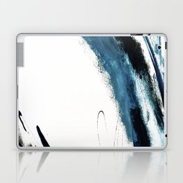 Reykjavik: a pretty and minimal mixed media piece in black, white, and blue Laptop & iPad Skin