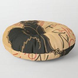 Le Chat Noir The Black Cat Poster by Théophile Steinlen Floor Pillow