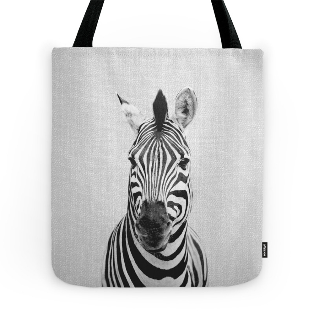 Zebra - Black & White Tote Purse by galdesign (TBG7737833) photo