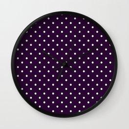 little  dots purple Wall Clock