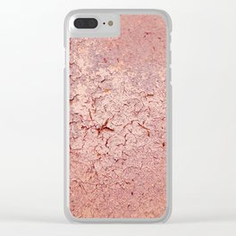 Cracked Wall Texture Pink Clear iPhone Case