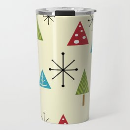 Mid Century Modern Christmas Trees Travel Mug