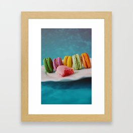 Blue Macarons Framed Art Print