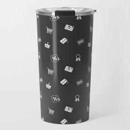 Shopping symbols Travel Mug