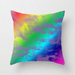 Rainbow Sky Throw Pillow