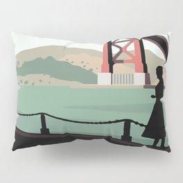 Vertigo Bridge Illustration Pillow Sham