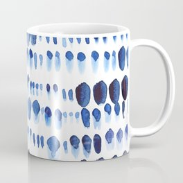 Indigo Watercolour Paint Splodges Coffee Mug